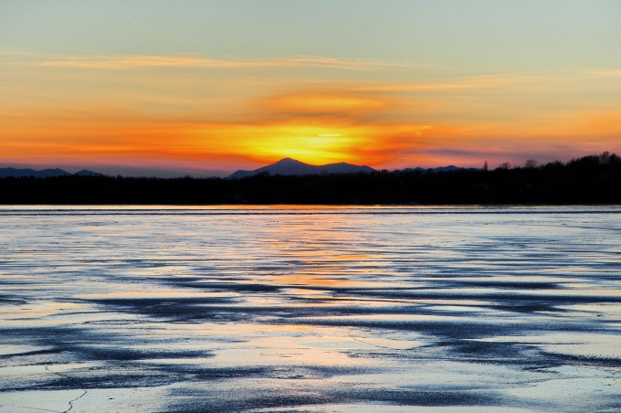 Sunset Over the Adirondack Mountains